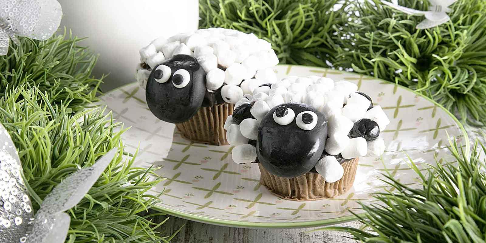 Schäfchen-Muffins für die Ostertage