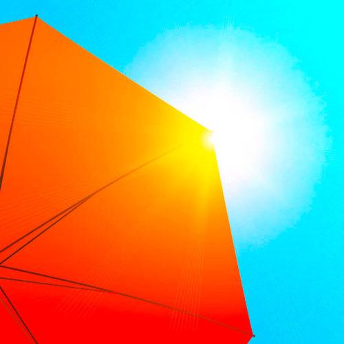 Ein Sonnenschirm für Deinen Garten